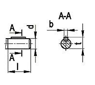 Размеры валов редуктора цилиндрического ЦТНД
